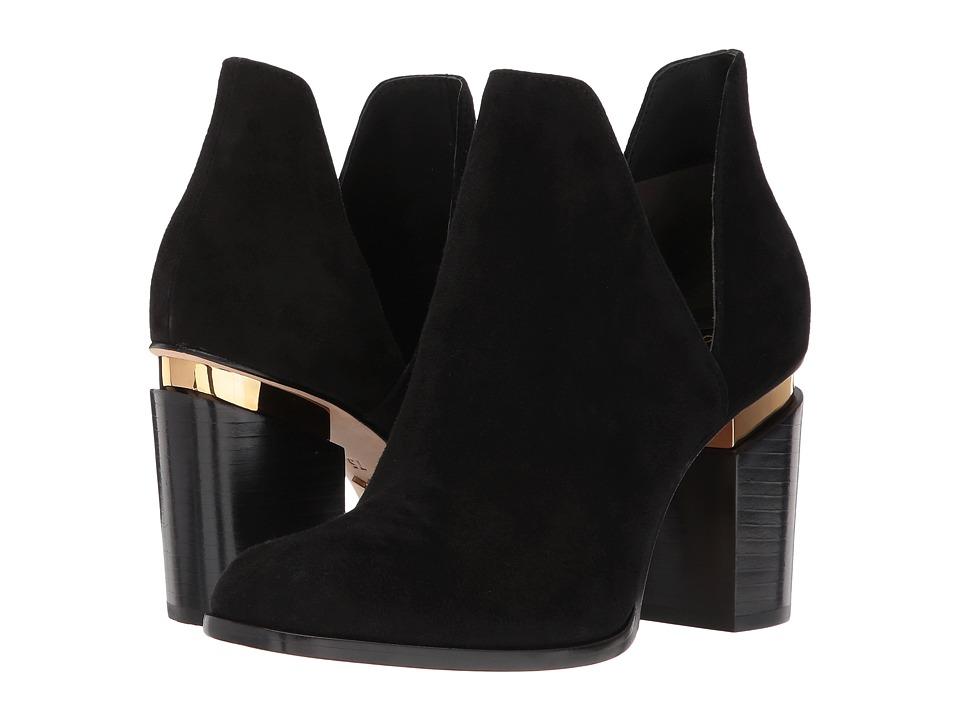 Donna Karan Astor Ankle Boot (Black Goat Suede) Women