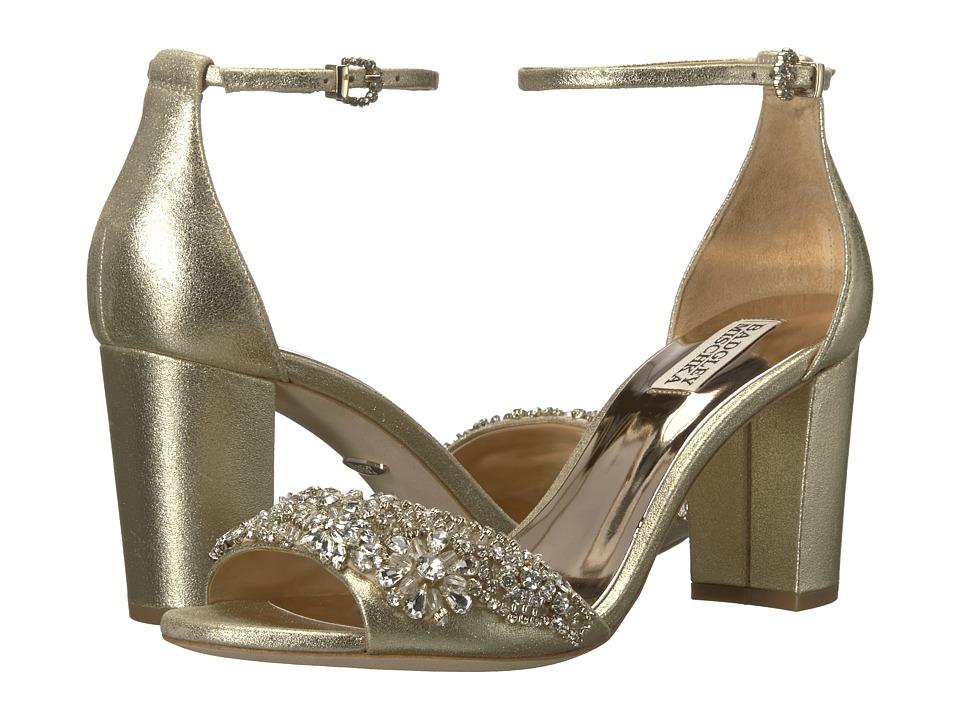 Badgley Mischka Hines (Platino Metallic Suede) High Heels