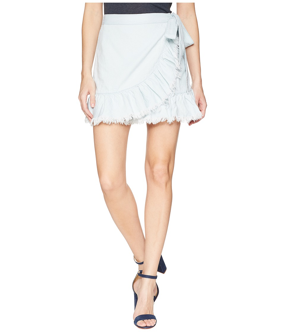 Blank NYC Hi Rise Ruffle Mini Skirt in Cloud Cover (Cloud Cover) Women