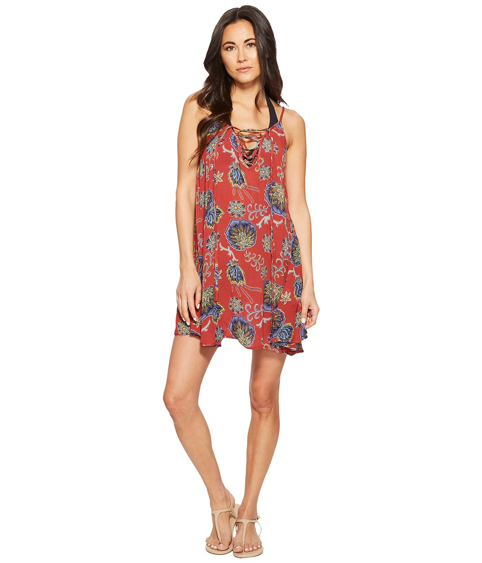 Roxy Softly Love Dress Cover-Up (Tandoori Spice Velvet Tribes) Women