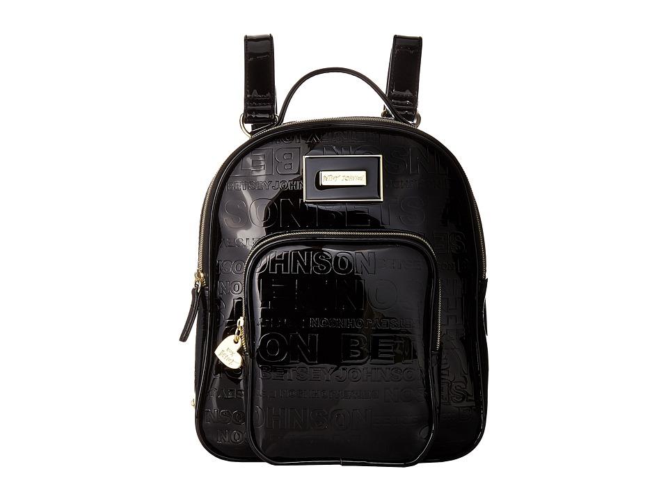 Betsey Johnson Logo Backpack (Black) Backpack Bags