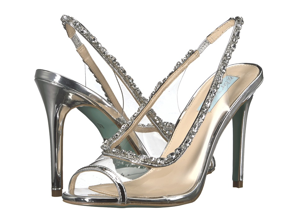 Blue by Betsey Johnson Halie (Solid Silver) High Heels