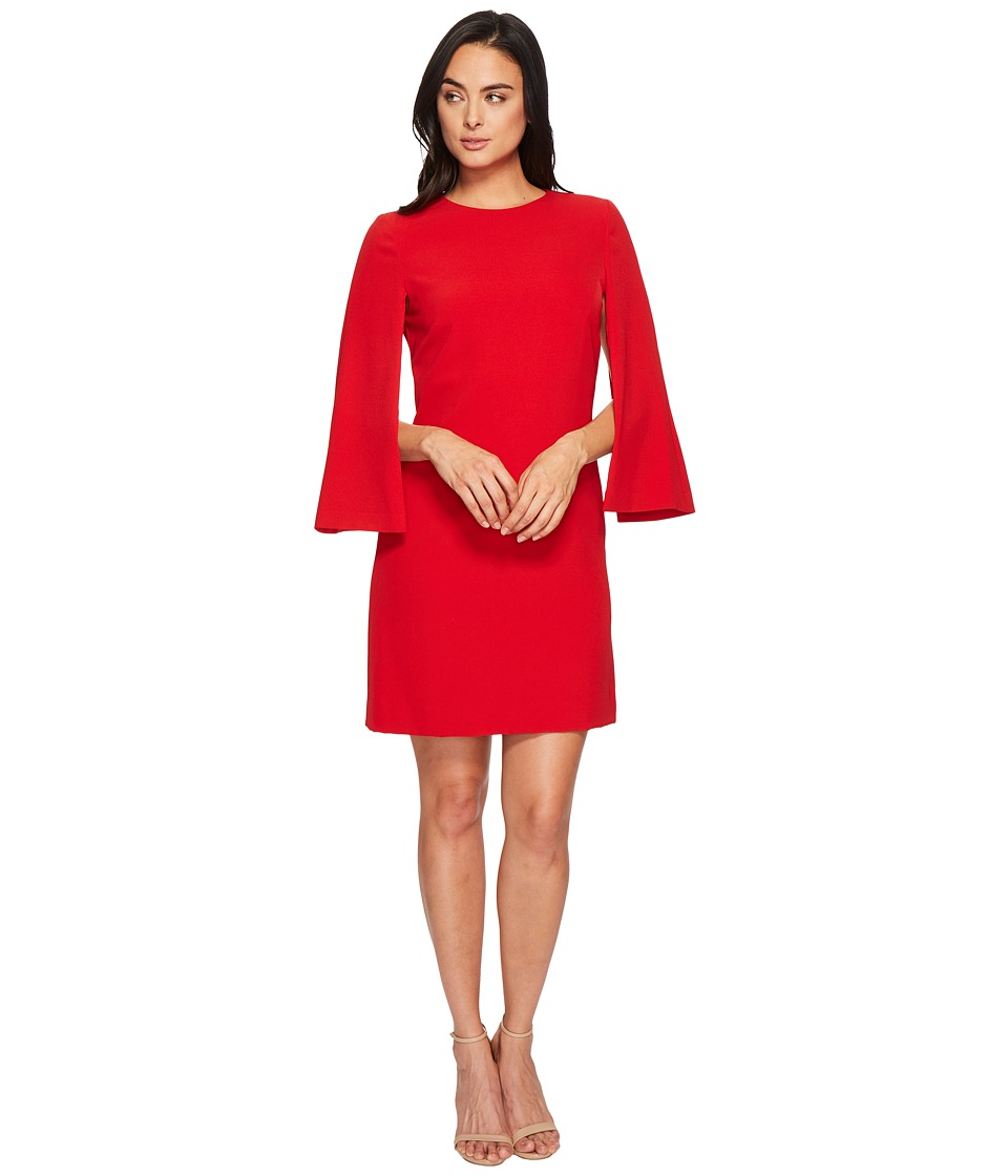 Tahari by ASL Cape Sleeve Dress (Firebird Red) Women