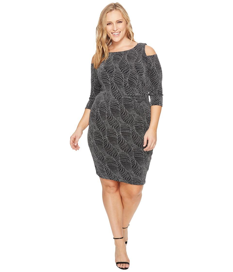 Sangria Plus Size Cold Shoulder Dress