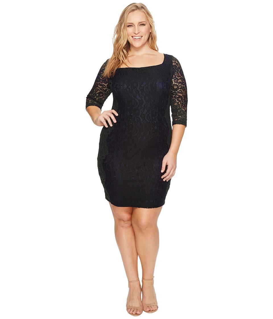 Sangria Plus Size Lace Sheath Dress (Multi) Women