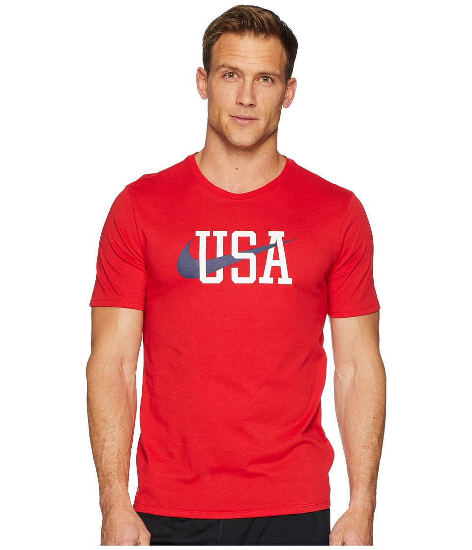 Nike MT Americana Short Sleeve Tee (University Red) Men