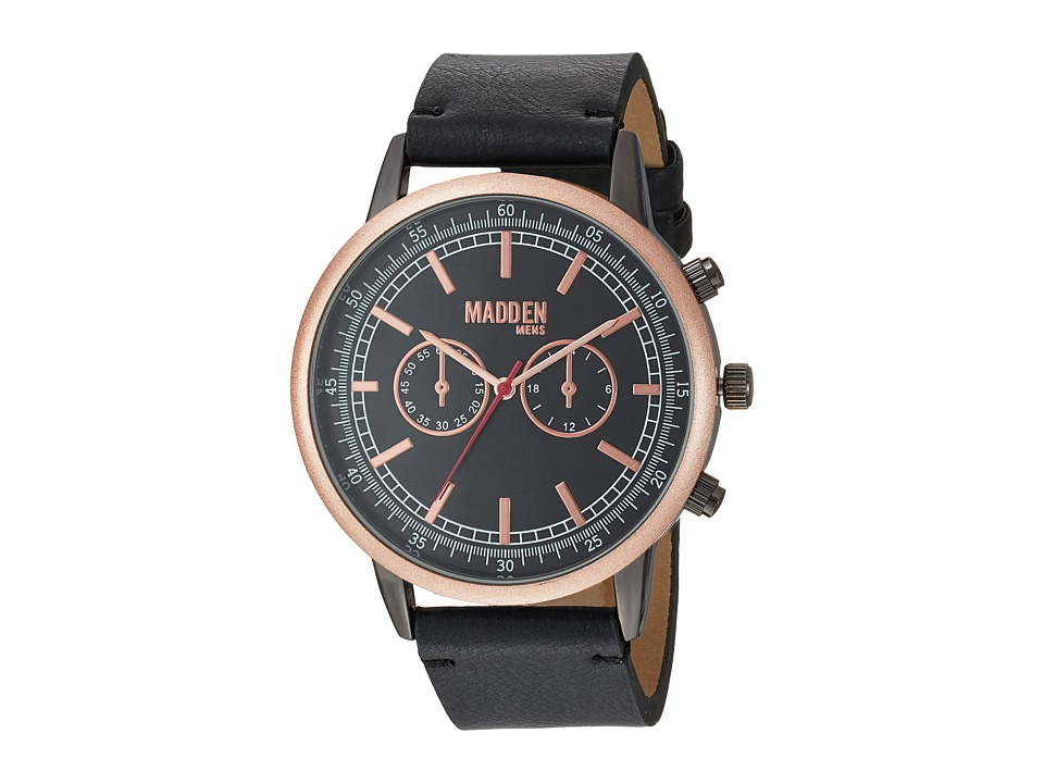 Steve Madden - Madden Mens SMMW014Q-BK (Rose Gold/Black) Watches