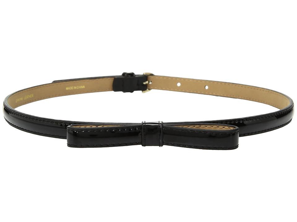 Kate Spade New York 1/2 Patent Skinny Bow Belt (Black) Women