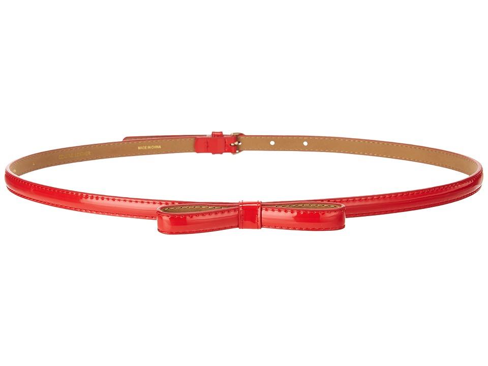 Kate Spade New York 1/2 Patent Skinny Bow Belt (Picnic Red) Women