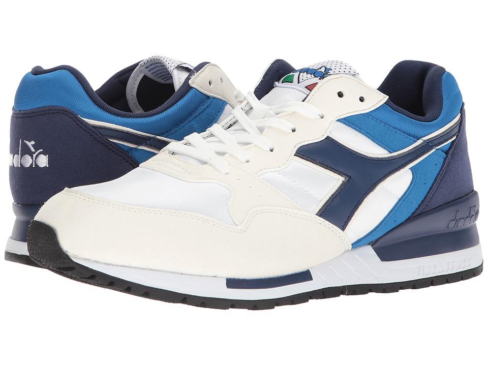 Diadora Intrepid NYL (White/Estate Blue/Skydiver) Athletic Shoes