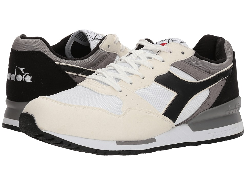 Diadora Intrepid NYL (White/Black/Frost Gray) Athletic Shoes