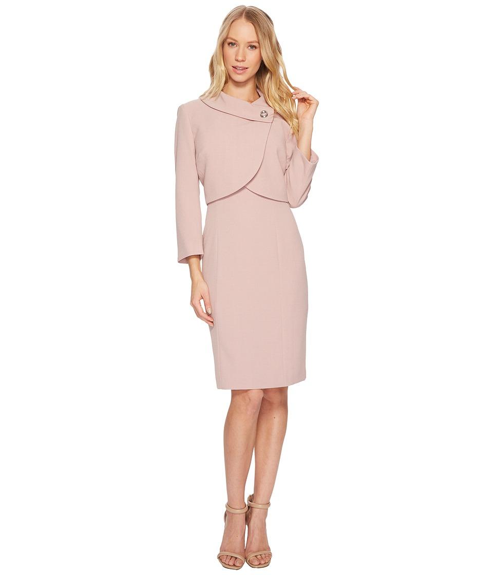 Tahari by ASL Envelope Collar Jacket Dress (Blush Pink) Women