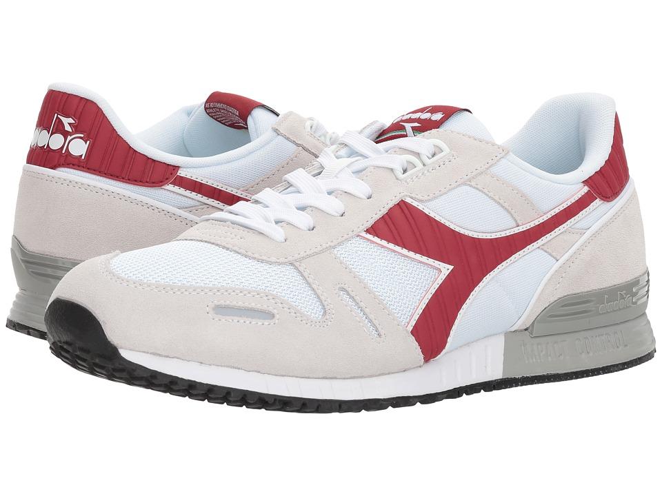 Diadora Titan II (White/Garnet) Athletic Shoes