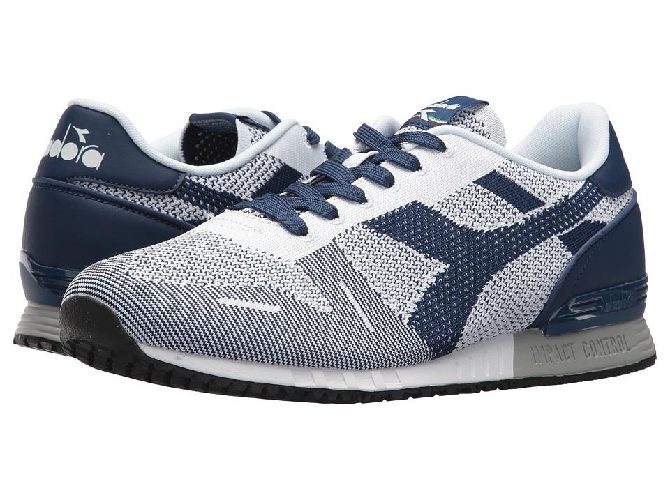 Diadora Titan Weave (White/White/Estate Blue) Athletic Shoes