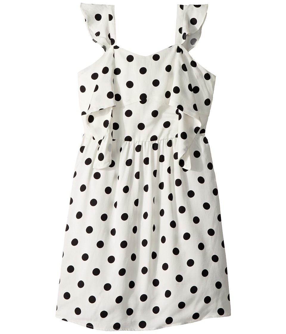 Bardot Junior Spot Knot Dress (Big Kids) (White Spot) Girl