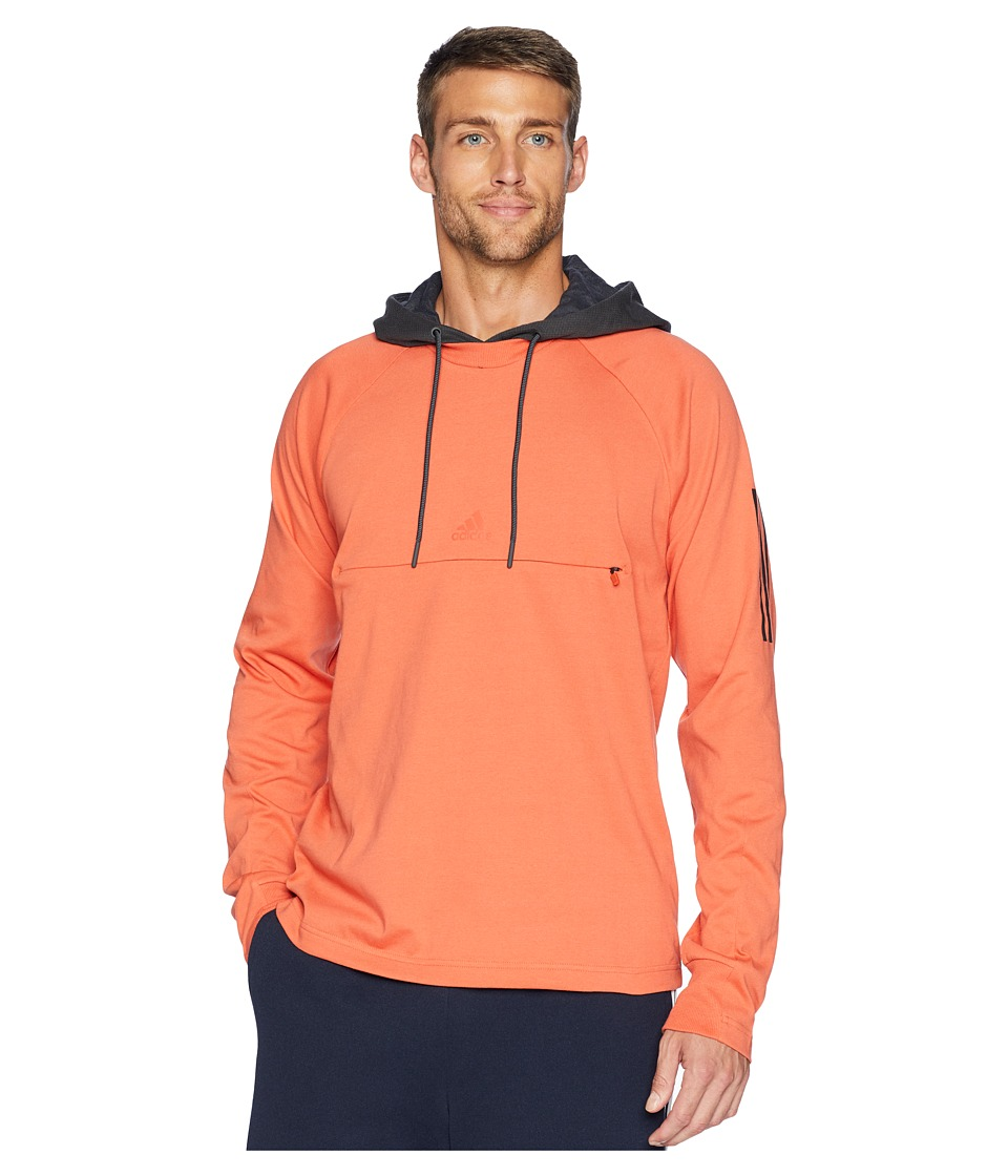 adidas Sport 2 Street Lifestyle Pullover Hoodie (Raw Amber/Carbon) Men