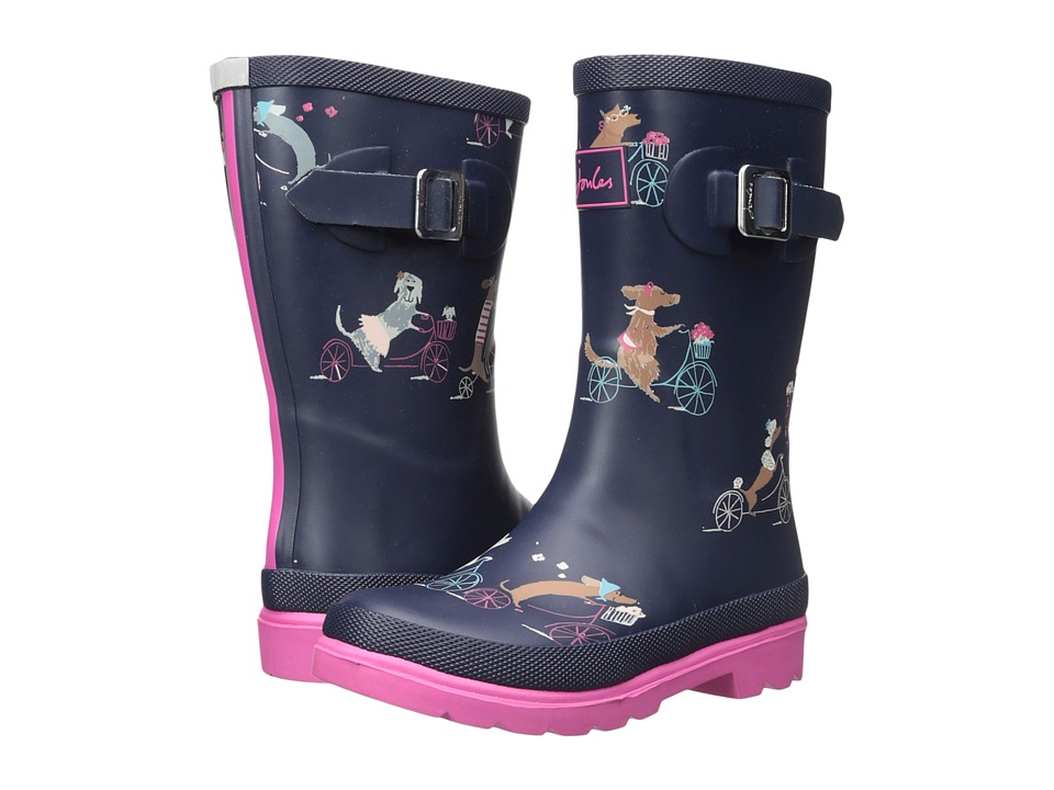 Joules Kids Printed Welly Rain Boot (Toddler/Little Kid/Big Kid) (Dark Animal) Girls Shoes