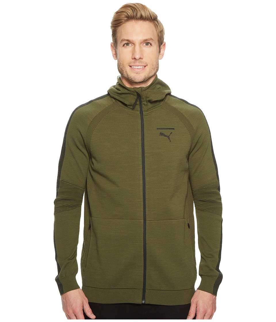 PUMA EvoKNIT Move Full Zip Hoodie (Olive Night) Men