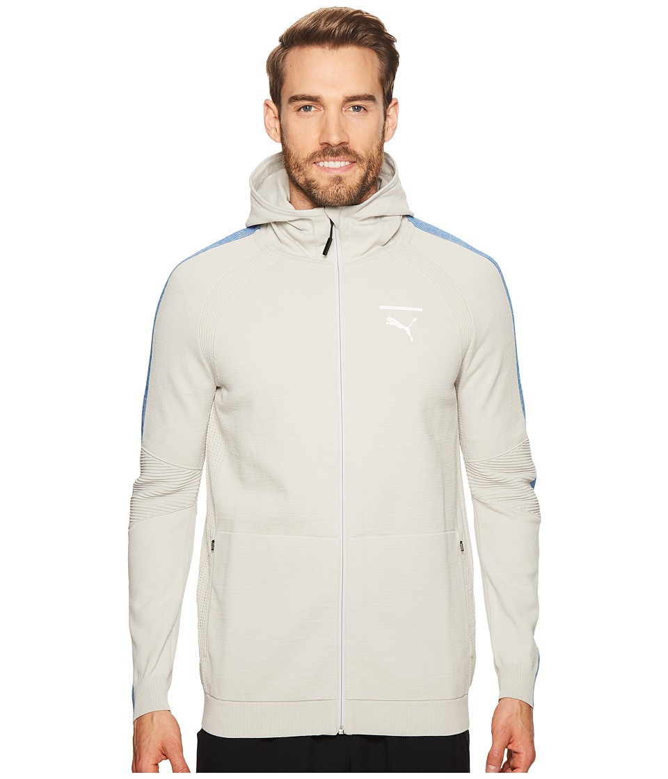 PUMA EvoKNIT Move Full Zip Hoodie (Gray Violet/Black/Lapis Blue) Men