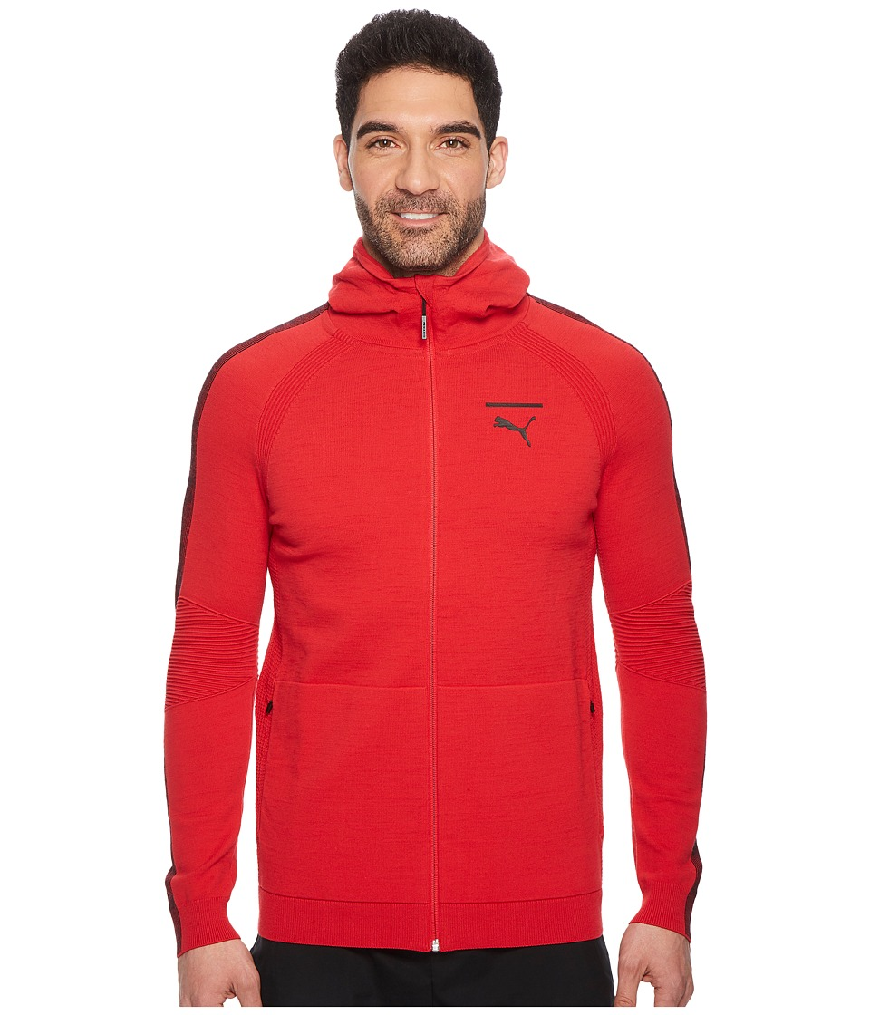 PUMA EvoKNIT Move Full Zip Hoodie (Toreador Black) Men