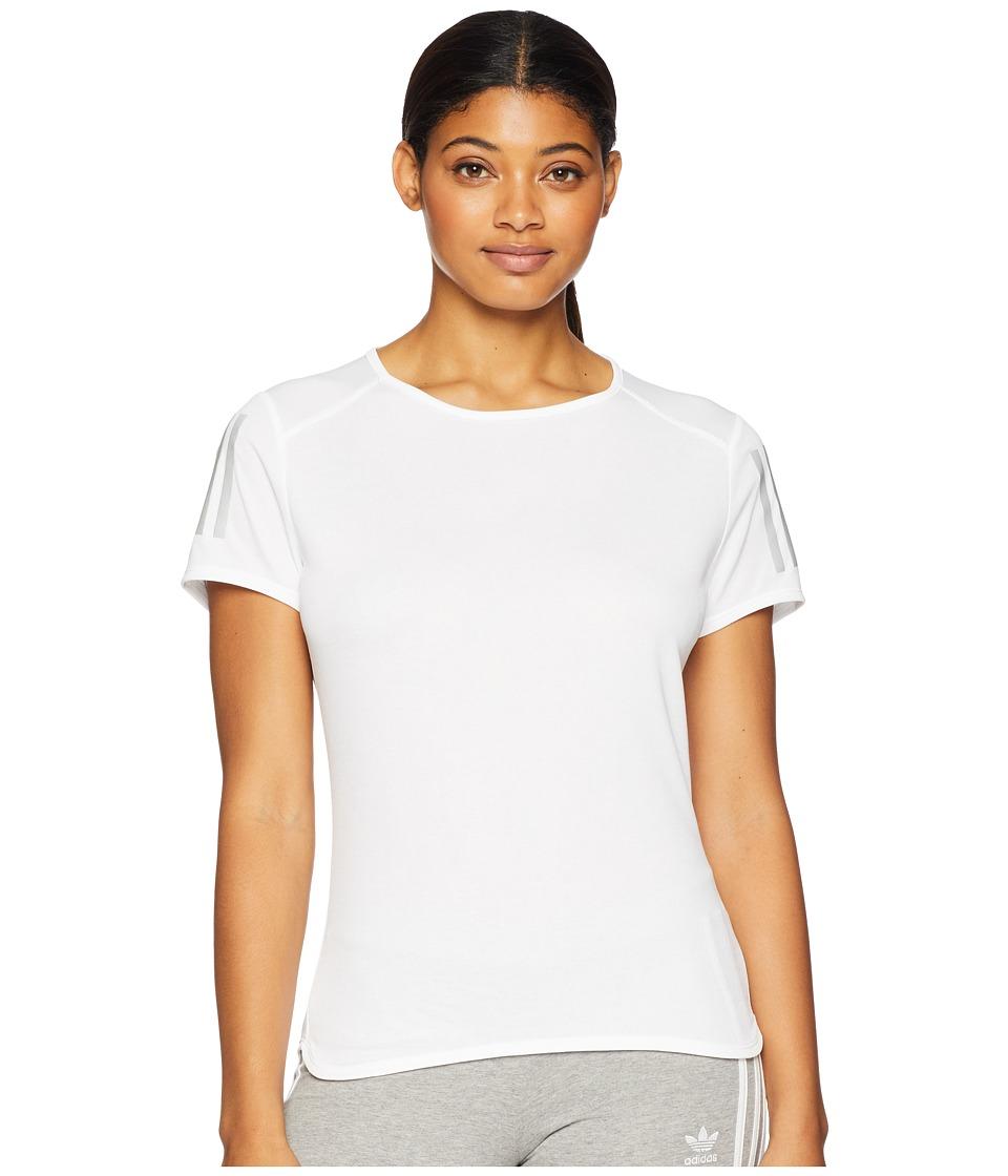 adidas Response Short Sleeve Tee (White) Women