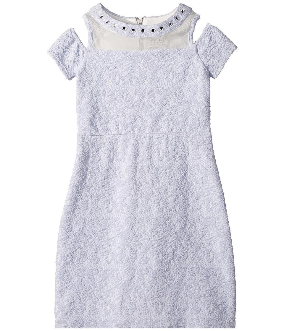 Us Angels Cold Shoulder Illusion Textured Knit Sheath (Big Kids) (Periwinkle) Girl