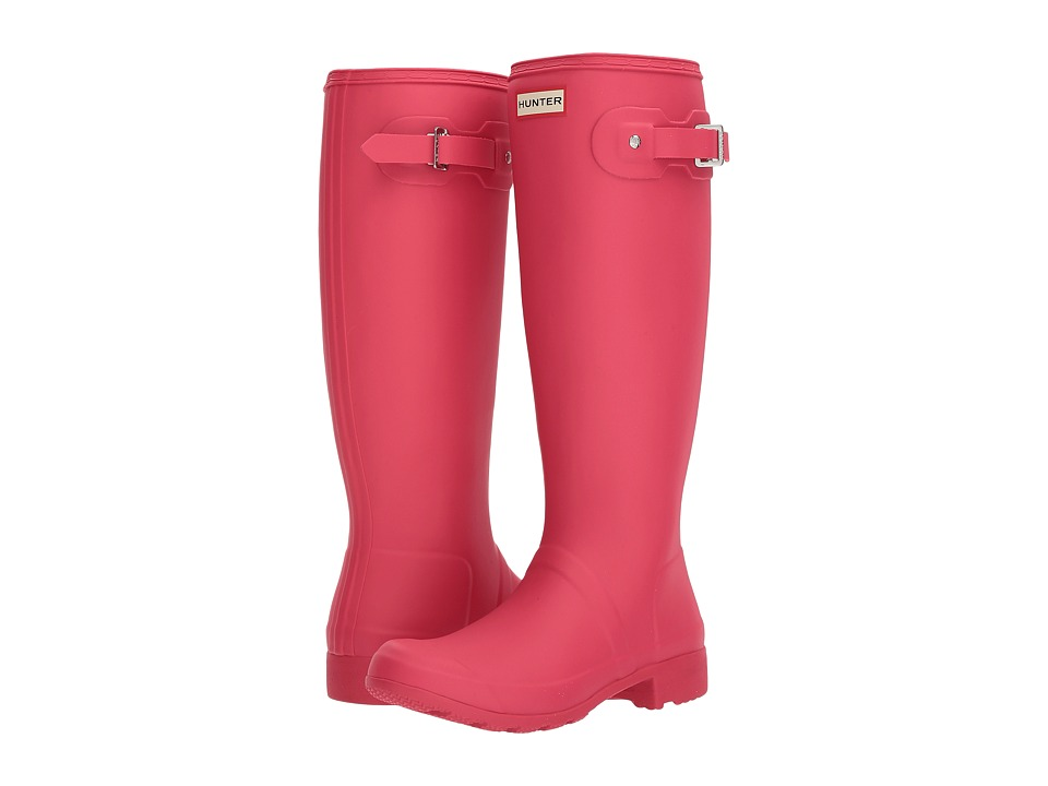 Hunter Original Tour Rain Boot (Mosse Pink) Women