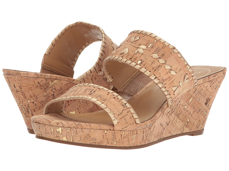 Jack Rogers - Ella (Natural Cork/Gold) Women's Shoes