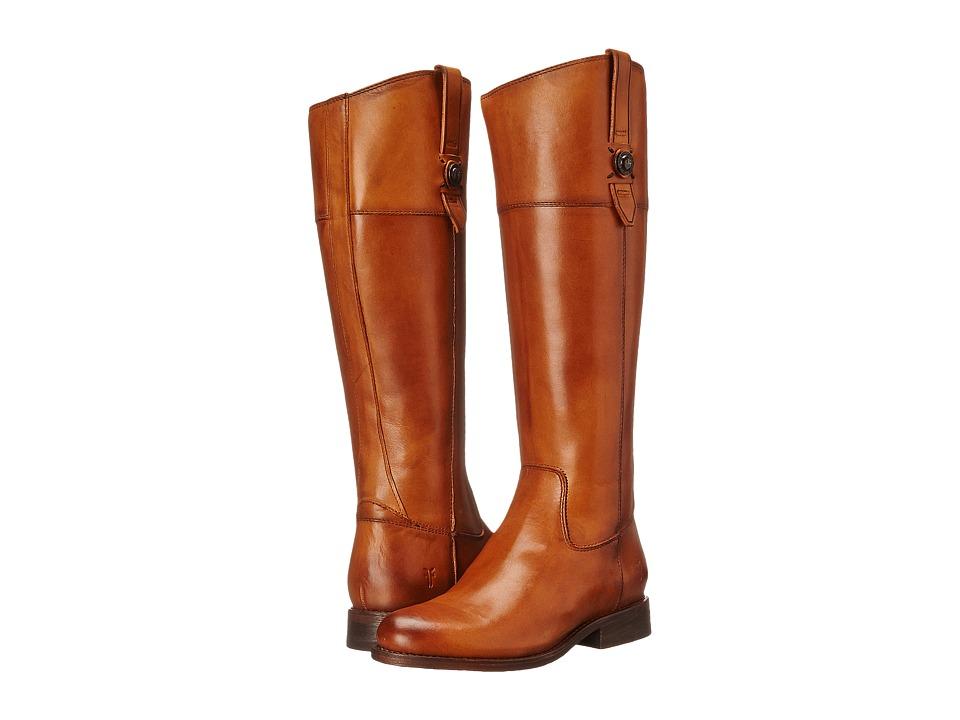 Frye Jayden Button Tall (Tan) Cowboy Boots