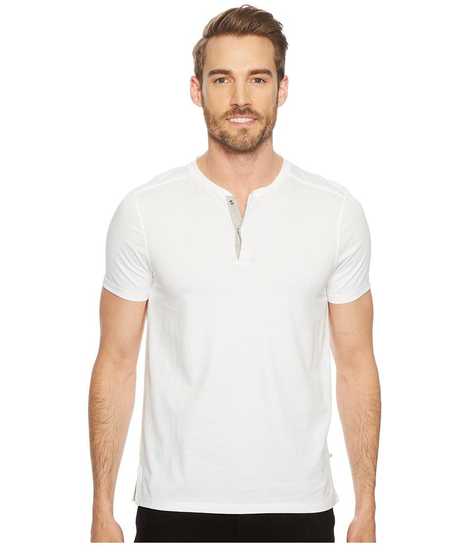 Calvin Klein Shoulder Piping Hidden Placket Henley (Standard White) Men