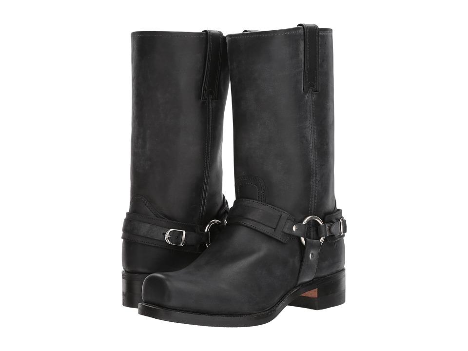 Frye Belted Harness 12R (Black 1) Cowboy Boots