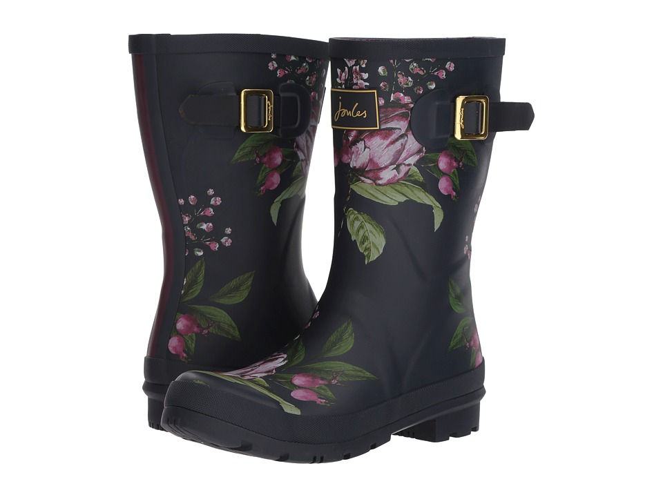 Joules Mid Molly Welly (French Navy Artichoke Floral Rubber) Women