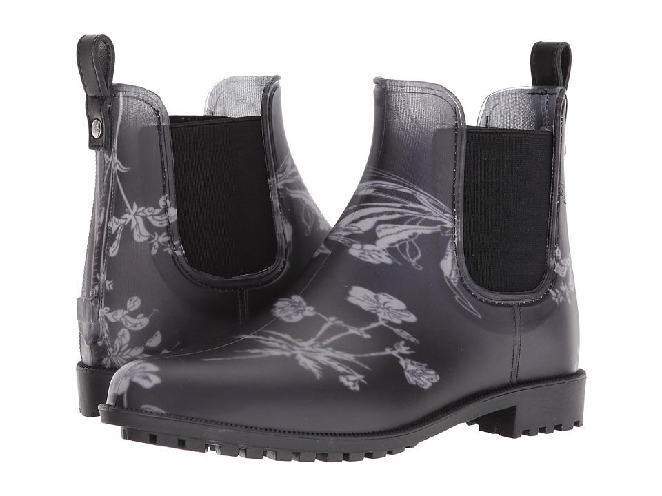 Joules Rockingham Chelsea Boot (Black Botanical Rubber) Women