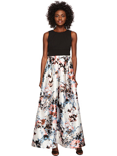 Ballgown With Floral Printed Skirt by Sangria