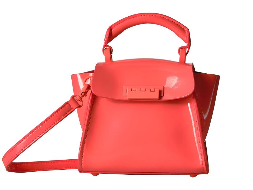 ZAC Zac Posen - Eartha Iconic Top-Handle Mini Patent (Neon Orange) Top-handle Handbags