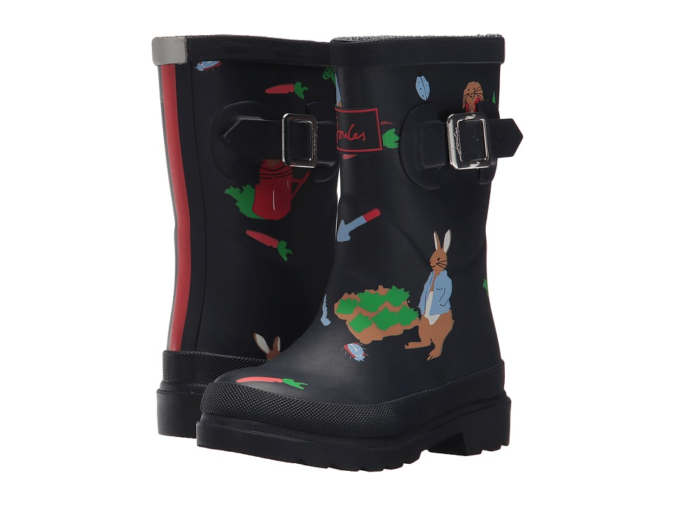 Joules Kids Printed Welly Rain Boot (Toddler/Little Kid/Big Kid) (Potter Garden) Boys Shoes