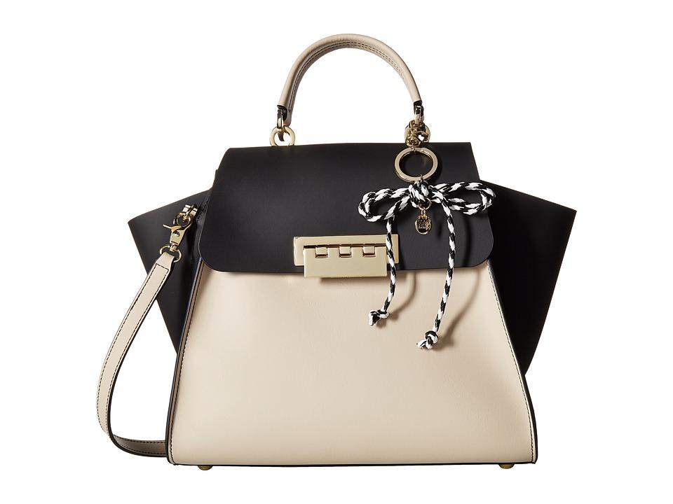 ZAC Zac Posen - Eartha Iconic Top-Handle Color Block with Rope Charm (Black) Handbags