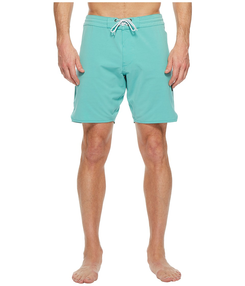 VISSLA Solid Sets Washed Four-Way Stretch Boardshorts 18.5 (Jade) Men