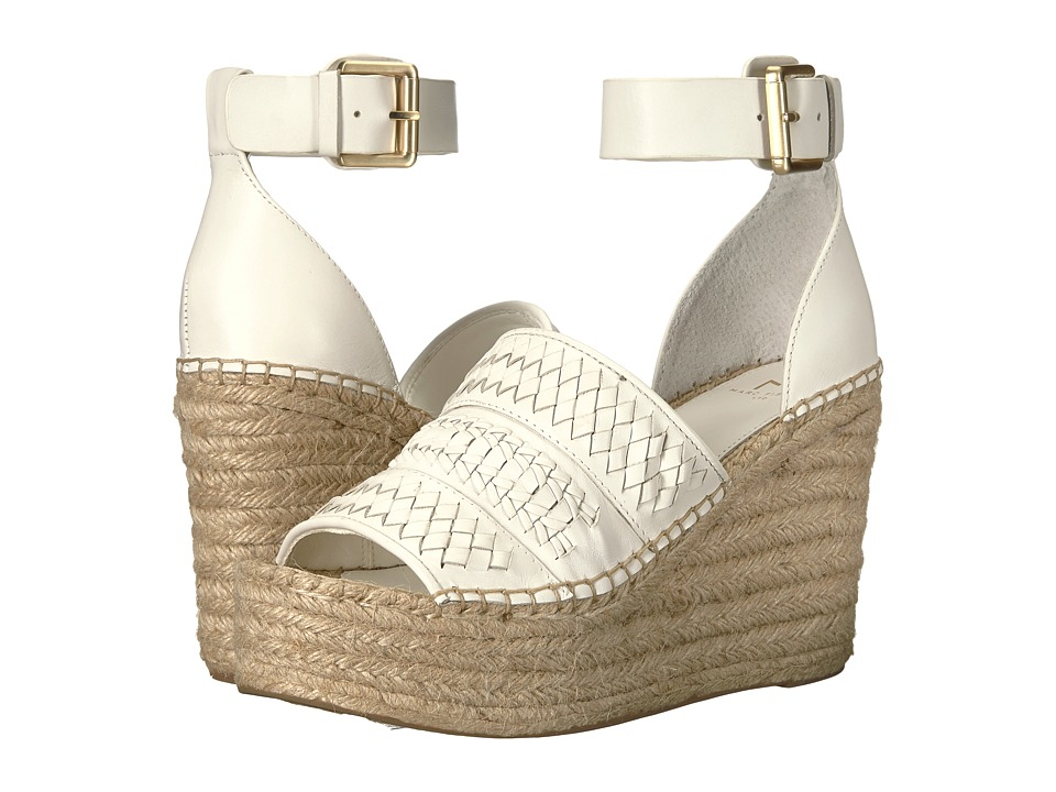 Marc Fisher LTD Alina Espadrille Wedge (Ivory Multi Leather) Women