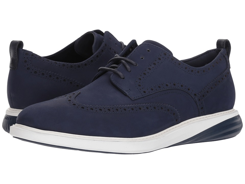 Cole Haan Grand Evolution Shortwing (Marine Blue Nubuck/Optic White/Marine Blue) Men