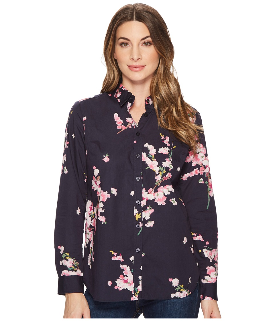Joules Lucie Printed Classic Shirt (French Navy Blossom) Women
