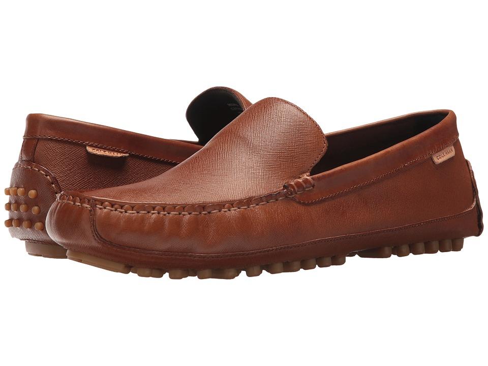 Cole Haan Coburn Venetian Driver II (British Tan Textured Leather) Men