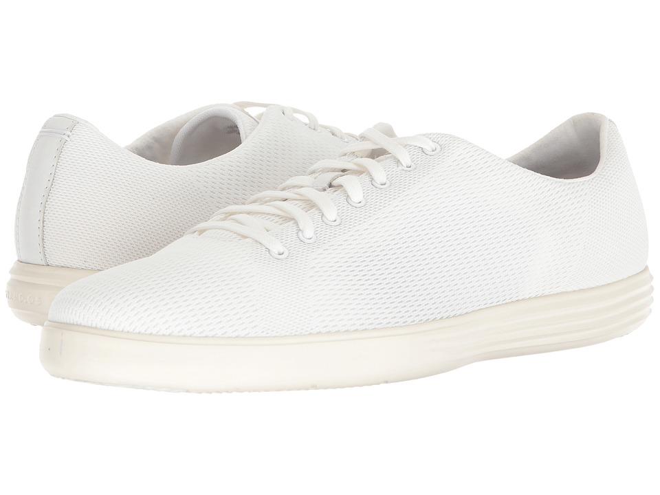 Cole Haan Grand Crosscourt Knit Sneaker (White Knit) Men