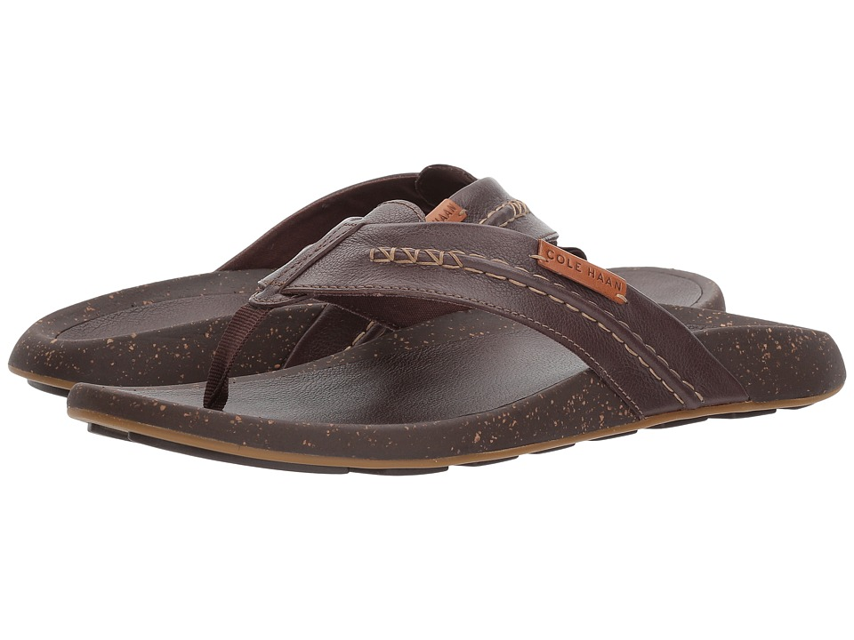 Cole Haan Brady Thong Sandal (Chestnut Leather) Men