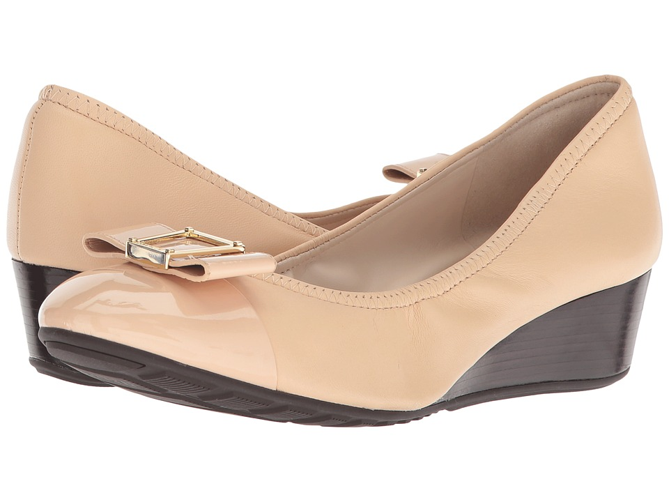 Cole Haan Emory 40mm Bow Wedge II (Nude Leather) Women
