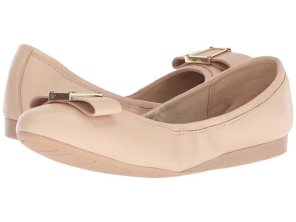 Cole Haan Emory Bow Ballet II (Nude Leather) Women