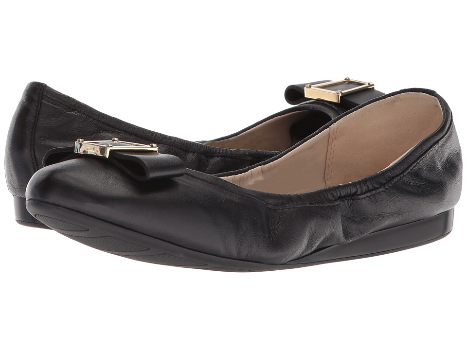 Cole Haan Emory Bow Ballet II (Black Leather) Women