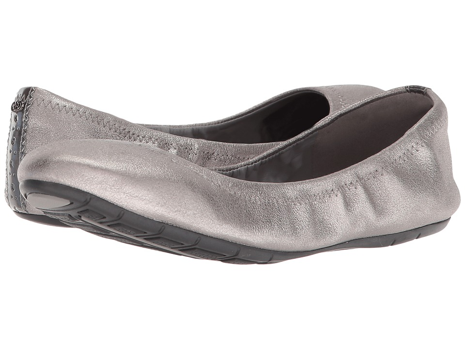Cole Haan Zerogrand Ballet II (Gunmetal Shimmer Metallic Leather) Women