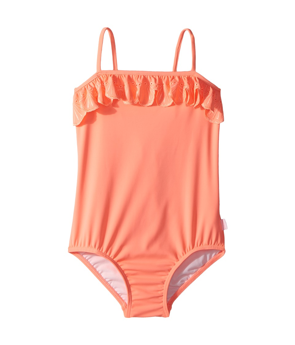 Seafolly Kids Sweet Summer Frill Tube Tank One-Piece (Infant/Toddler/Little Kids) (Fusion Coral) Girl