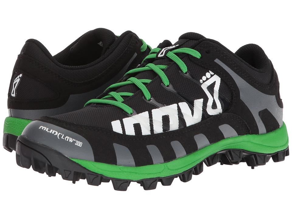 inov-8 Mudclaw 300 (Black/Grey/Green) Athletic Shoes